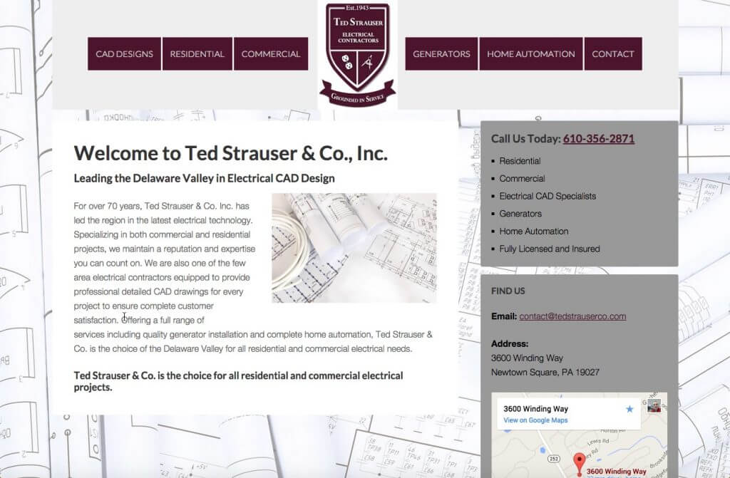 Ted Strauser & Co, Inc. website