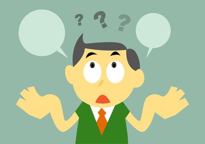 Vector Cartoon Confuse Businessman